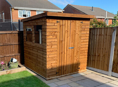 New Garden Shed Bickershaw