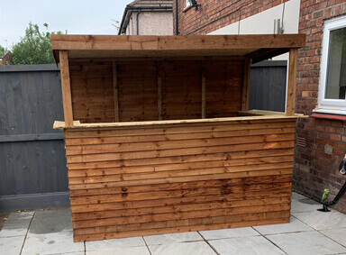 8x4 Garden Bar Harwood