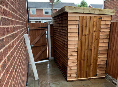 Garden Sheds in Bickershaw