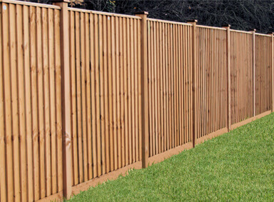 All Wood Fencing Reddish Green