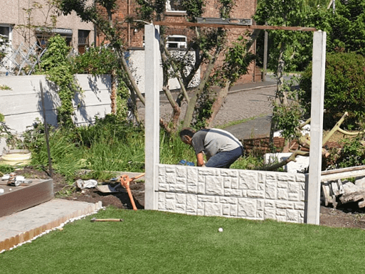 Peel Green Fence Installation