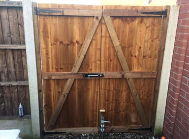 Wooden Gates New Moston