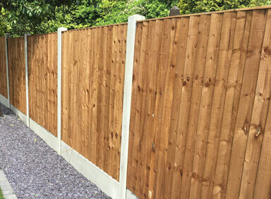 Feather Edge Fencing Reddish Green